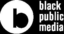Black Public Media logo in white