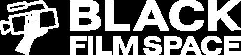 Black Film Space logo in white