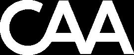 CAA logo in white