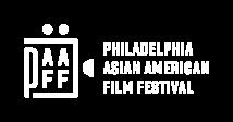Philadelphia Asian American Film Festival logo in white