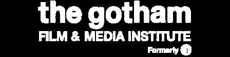 The Gotham logo in white
