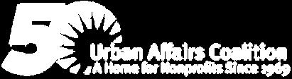 Urban Affairs Coalition logo in white