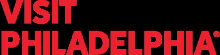 Visit Philadelphia logo in red
