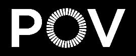 POV logo in white