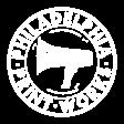 Philadelphia Printworks logo in white