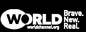 WORLD Channel logo in white